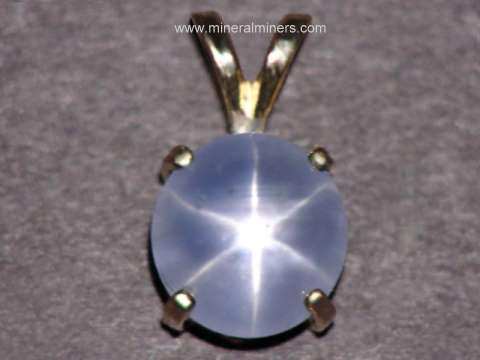 Natural Star Sapphire Necklaces, Rings and Jewelry