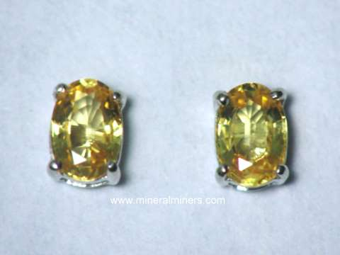 Large Image of sylj120_yellow-sapphire-earrings