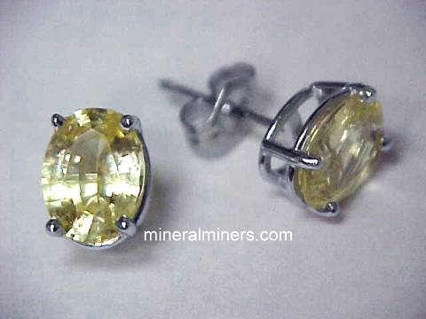 Yellow Sapphire Jewelry and Earrings