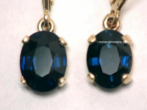Large Image of sblj203a_blue-sapphire-earrings