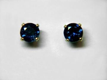 Large Image of sblj230_blue-sapphire-earrings