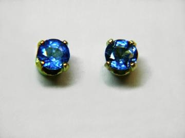 Large Image of sblj231_blue-sapphire-earrings