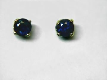 Large Image of sblj232_blue-sapphire-earrings