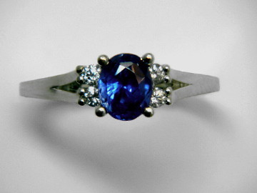 Large Image of sblj238_blue-sapphire-ring