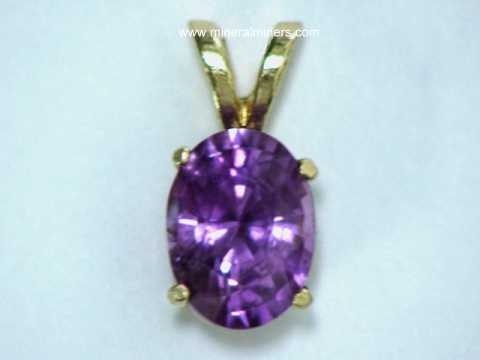 Purple Sapphire Jewelry: GIA Certified Natural Purple Sapphire Pendants, Necklaces and Rings