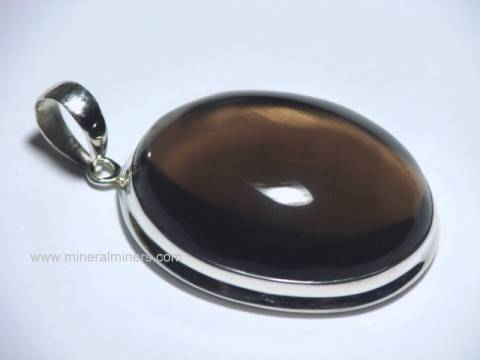 Smoky Quartz Crystal Pendants: natural smoky quartz pendant
