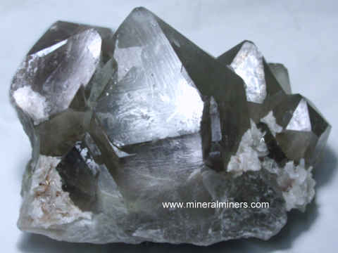 Smoky Quartz Cluster: natural smoky quartz crystal cluster