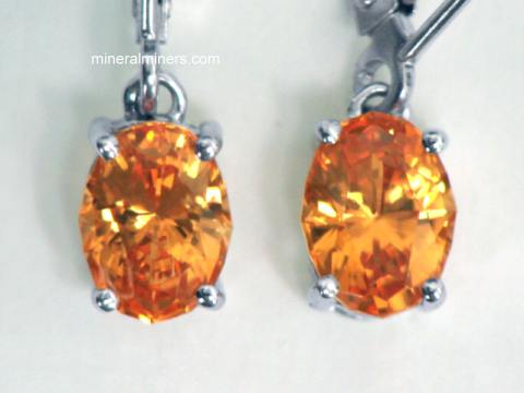 Mandarin Spessartite Garnet Earrings