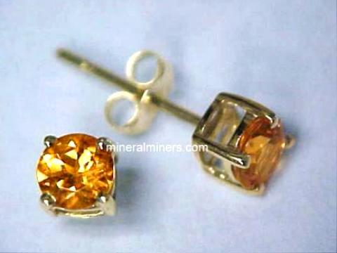Large Image of spej145aa_mandarin-garnet-earrings