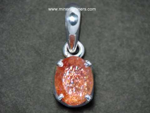 Natural Sunstone Pendant