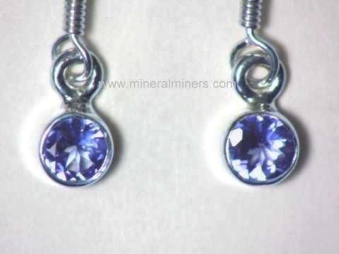Tanzanite Earrings: Tanzanite Earrings in Sterling Silver