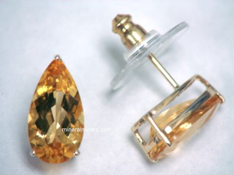 Imperial Topaz Earrings - Natural