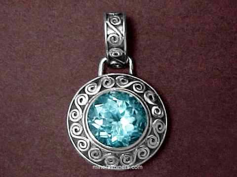 Blue Topaz Necklaces and Pendants