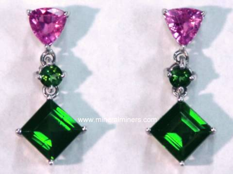 Large Image of tgrj304_green-tourmaline-earrings