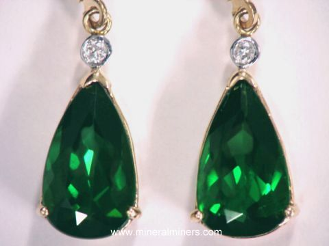 Large Image of tgrj305_green-tourmaline-earrings