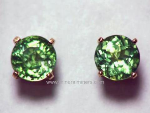 Large Image of tgrj348a_green-tourmaline-earrings