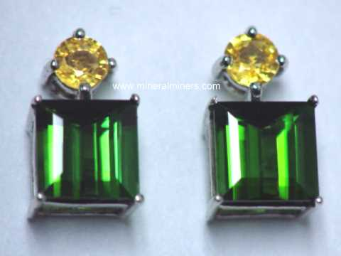 Large Image of tgrj369_green-tourmaline-jewelry