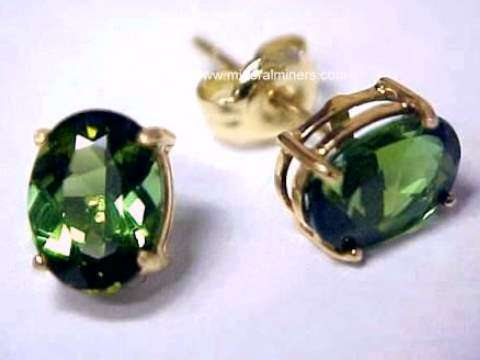 Large Image of tgrj375a_green-tourmaline-earrings