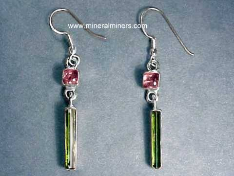 Multi-Color Tourmaline Earrings