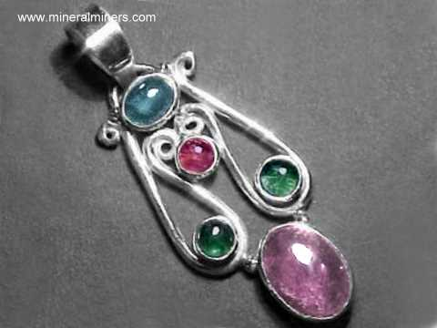 Tourmaline Jewelry: Natural Multi-Color Tourmaline Jewelry