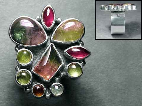 Click on any genuine watermelon tourmaline jewelry image below to enlarge it