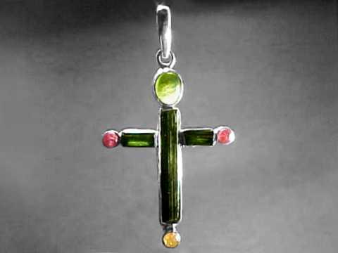 Large Image of tmcj191_tourmaline-cross-jewelry