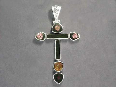 Large Image of tmcj242_tourmaline-cross-jewelry