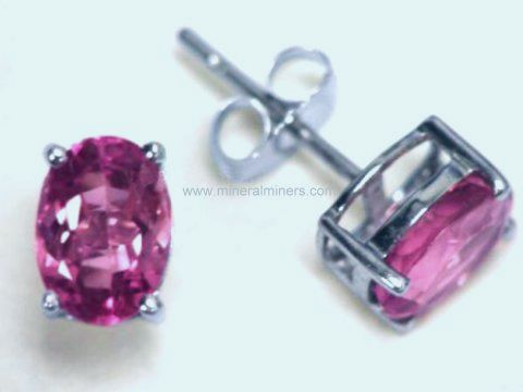 Large Image of trbj217a_pink-tourmaline-earrings