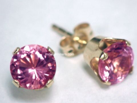 Large Image of trbj229a_pink-tourmaline-earrings