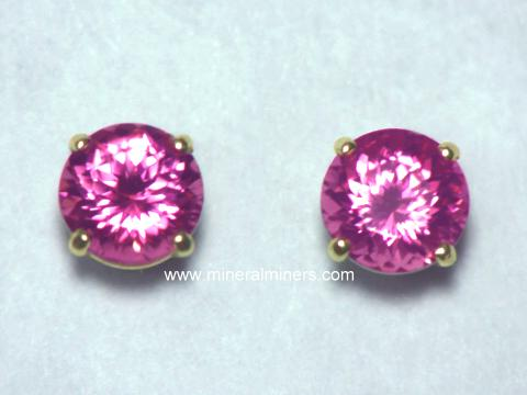 Large Image of trbj303_pink-tourmaline-earrings