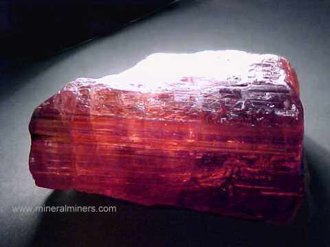 Rubellite Rough: Rubellite Tourmaline Lapidary Rough
