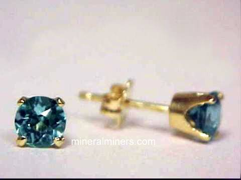 Blue Tourmaline Earrings