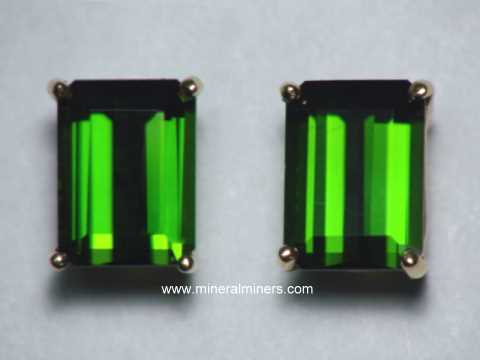 Green Tourmaline Earrings