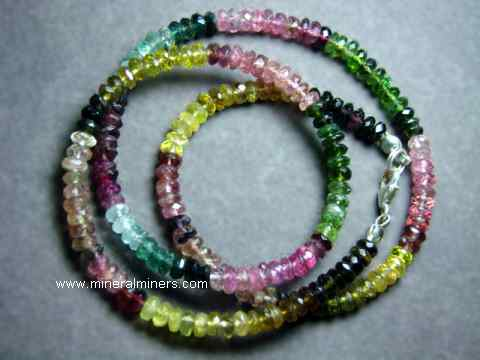 Multi-Color Tourmaline Necklaces