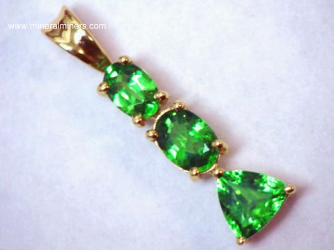 Merelani Mint Green Garnet Necklace (Tsavorite Garnet Necklace)