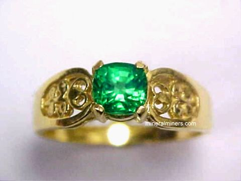 Tsavorite Mint Green Garnet Ring