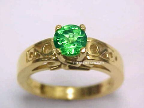 Merelani Mint Green Garnet Rings & Jewelry (Tsavorite Garnet Ring)