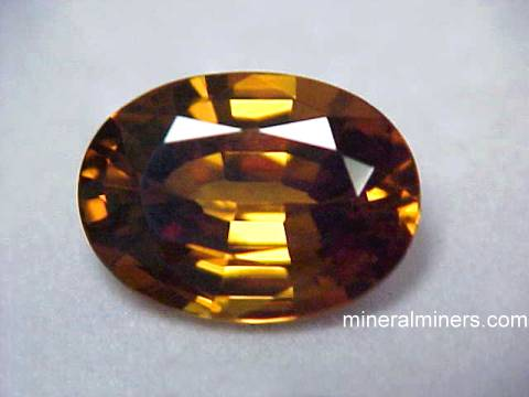 Zircon Gemstone: brown zircon gemstone