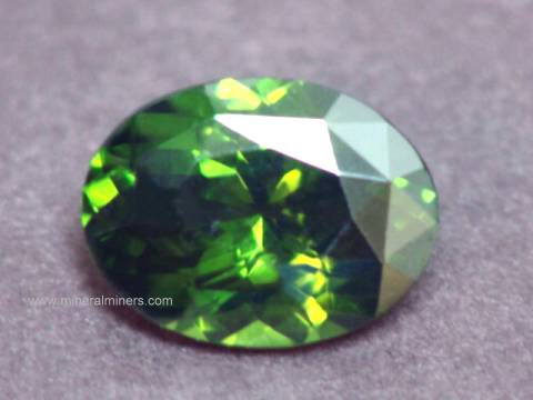 Green Zircon Gemstone