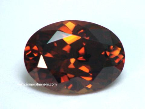 Reddish Brown Zircon Gemstones