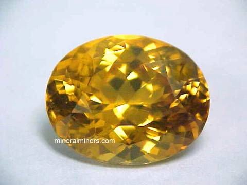 Yellow Zircon Gemstone