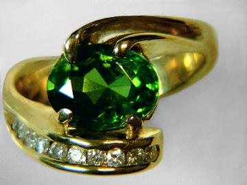 Zircon Ring: genuine zircon handcrafted jewelry